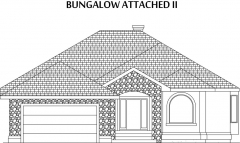 Bungalow Attached II Elevation