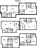 Floor plan for front to back duplex