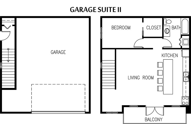 Converting garage into living space floor plans beautiful for Garage apartment plans canada