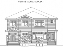 Semi Detached I Elevation