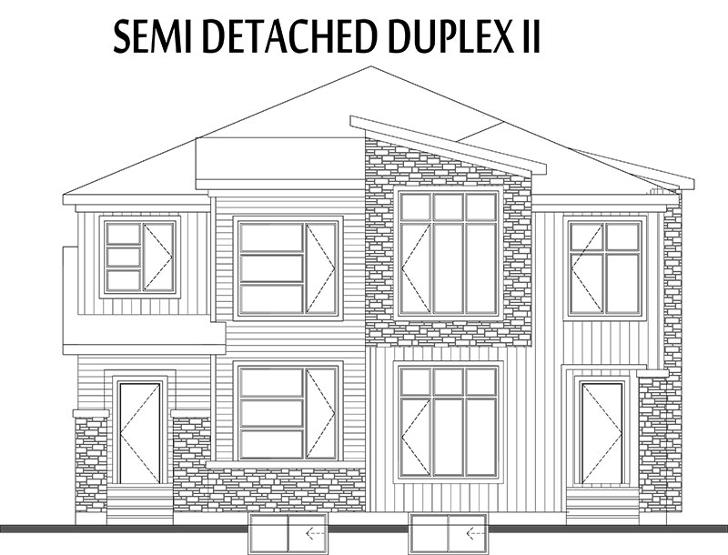 Semi duplex house plans 28 images duplex development for Semi duplex house plans