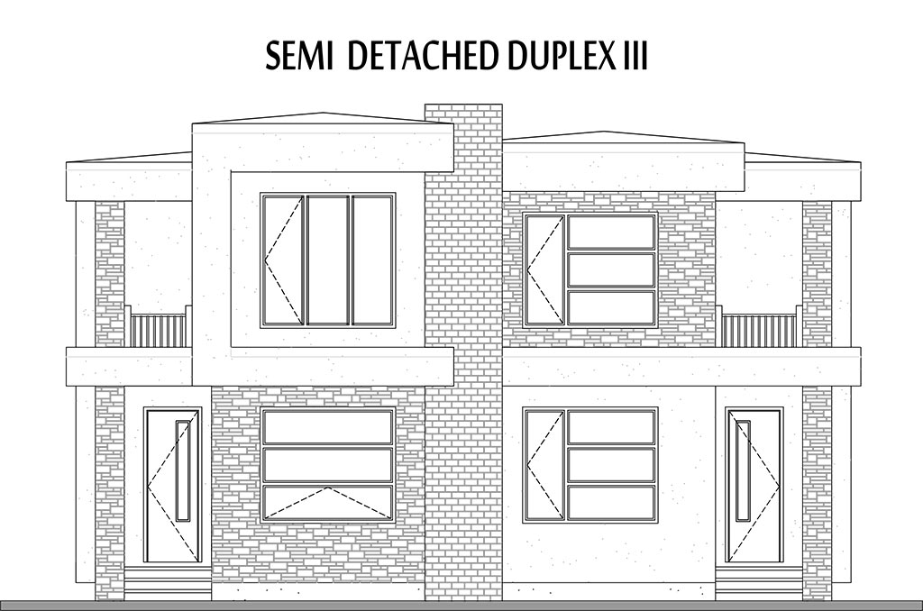 Semi attached house plans 28 images 2 bedroom semi for Semi duplex house plans