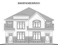 Semi Detached Duplex House IV Elevation