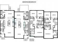 Duplex home floor plan 4