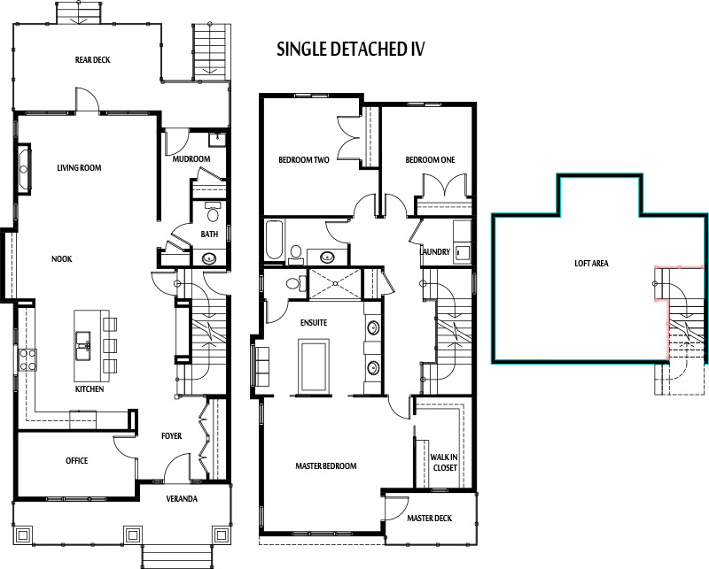 Breathtaking single detached house floor plan gallery for Double storey semi detached house floor plan