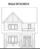 Single Detached edmonton home Elevation