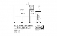 WASHINGTON Garage Suite - MAIN FLOOR