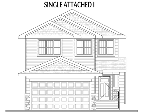 Single Attached I Elevation