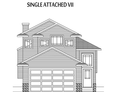 elevation of a single attached home - flight