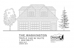 WASHINGTON Garage - ELEVATION