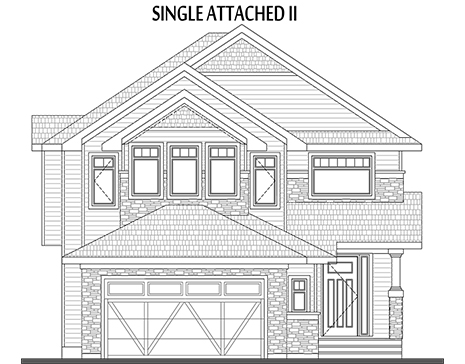 Single Attached II Elevation