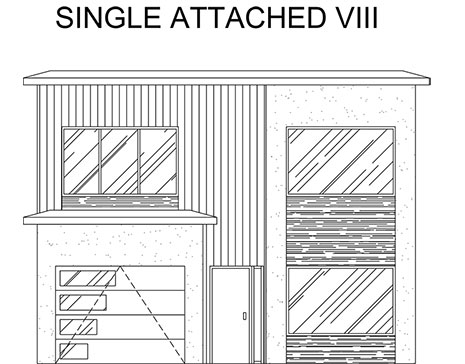 an elevation of a single attached home