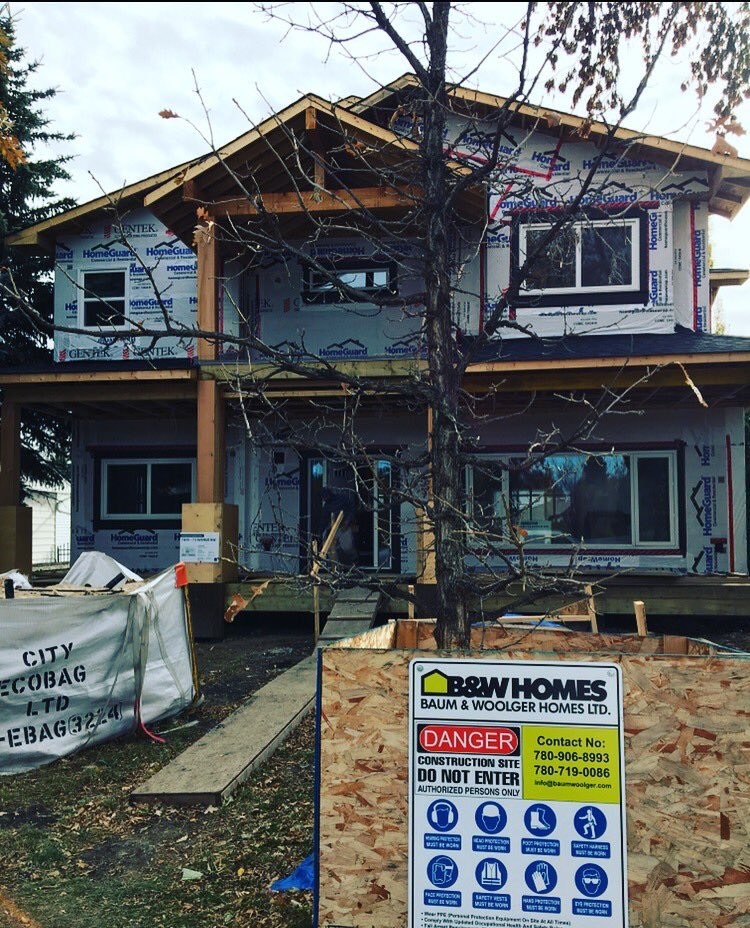 infill home being built by Baum Woolger